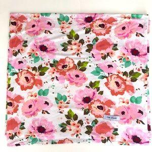 Pink Rose Swaddle, Blanket, Nursing cover